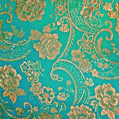 Artistic Brocade TURQUOISE GOLD