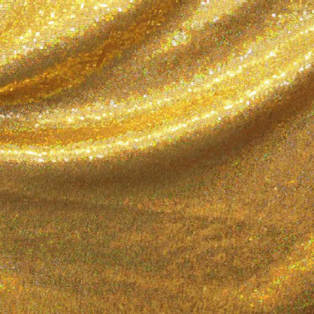 All Over Stretch Metallic Sequin HOLO GOLD