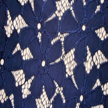 Corded Lace Flower NAVY