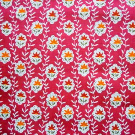 Cotton Print STEM CERISE