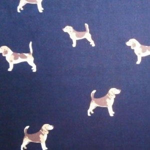 Cotton Print NAVY HOUNDS