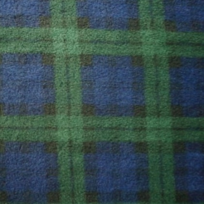 Fleece TARTAN BLUE GREEN