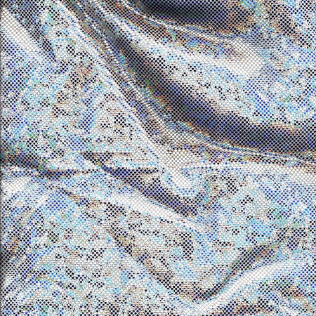 Nylon Spandex Ice Chip SILVER