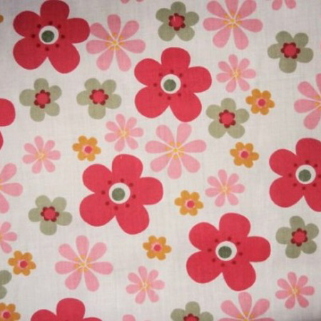 Poly Cotton Flowers FUNKY WHITE