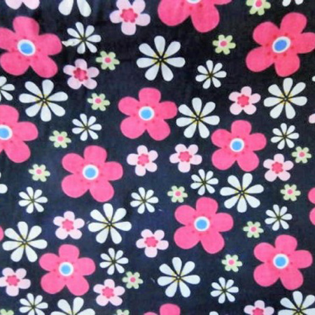 Poly Cotton Flowers FUNKY NAVY