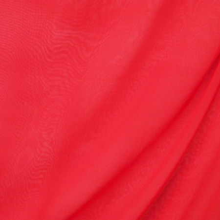 Poly chiffon georgette RED