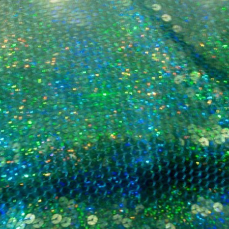 Poly Knit Holo Sequin TURQUOISE
