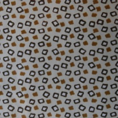 Printed Patterned Crepe AFRICA COFFEE