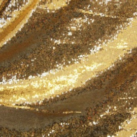 All Over Stretch Metallic Sequin NEW GOLD