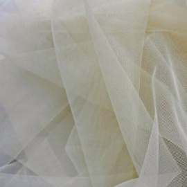 Fine Stretch Soft Tulle Extra-wide IVORY