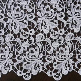 Guipure Flower Lace WHITE