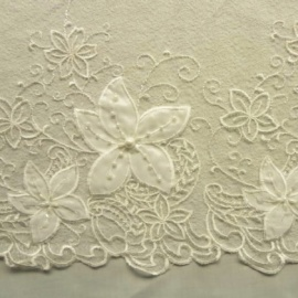 Ornate Beaded Spider Tulle IVORY FLOWER