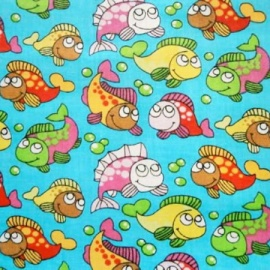 Poly Cotton FISH TURQUOISE