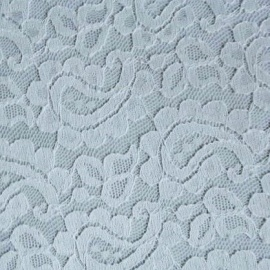 Paisley Design Corded Lace WHITE
