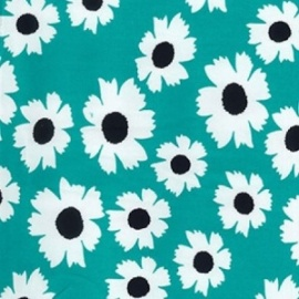 Stretch Cotton Print MINT FLOWER
