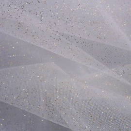 Stardust Tulle (extra wide) WHITE / GOLD