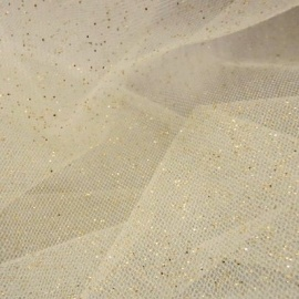 Stardust Tulle (extra wide) IVORY / GOLD