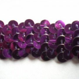 Stretch Sequin Trim Plain PURPLE