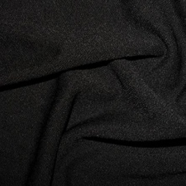 Stretch Textured Crepe BLACK