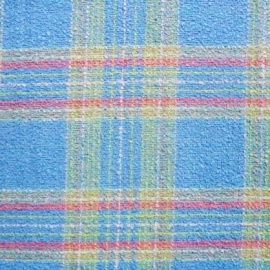 Wool Mix Boucle BLUE CHECK