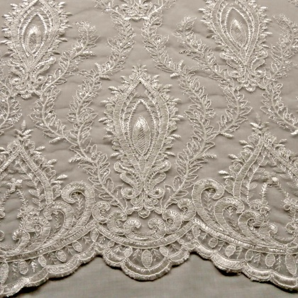 Cord Embroidered Tulle IVORY