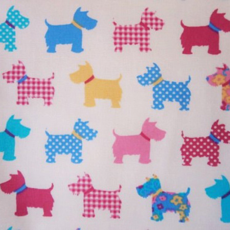 Cotton Print SCOTTIE WHITE