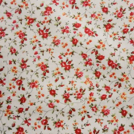 Cotton Print FLOWERS IVORY