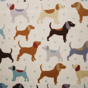 Cotton Print DOGS