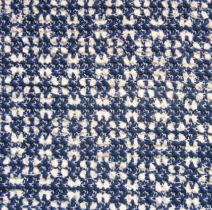 Cotton Polyester Boucle NAVY / IVORY