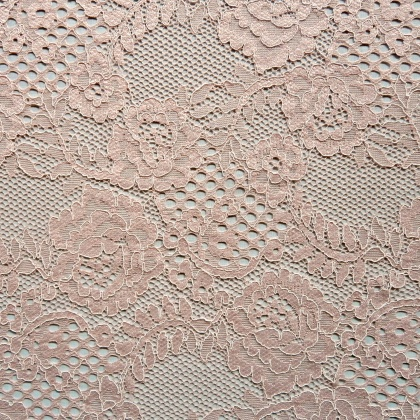 Corded Rose Flower Lace BLUSH PINK