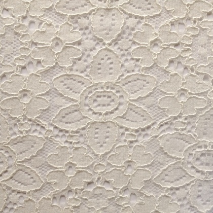 Flower Design Corded Lace IVORY