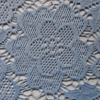 Floral Lace Overlay PALE BLUE