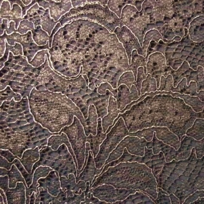 Foiled Vintage Lace BLACK GOLD
