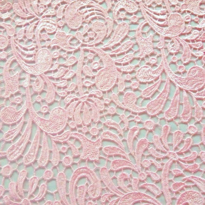 Guipure Flower Lace PINK