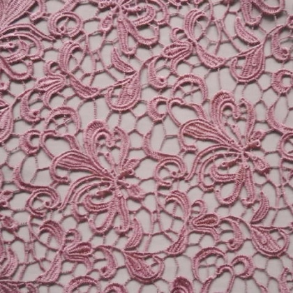 Guipure Flower Lace ROSE PINK