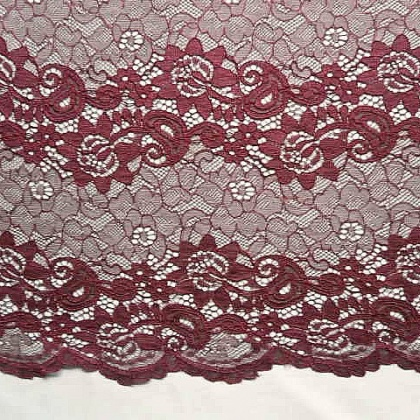 Linear Corded Lace WINE