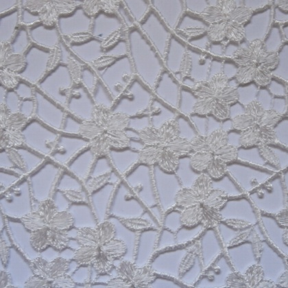 Ornate Guipure Flower Lace IVORY