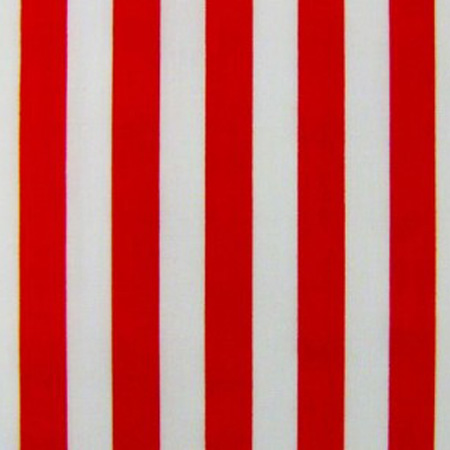 Poly Cotton Stripes RED ON WHITE