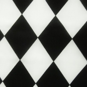 Poly Cotton Harlequin BLACK & WHITE