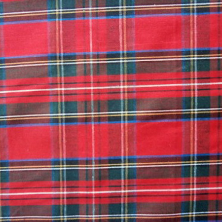 Poly Cotton TARTAN RED