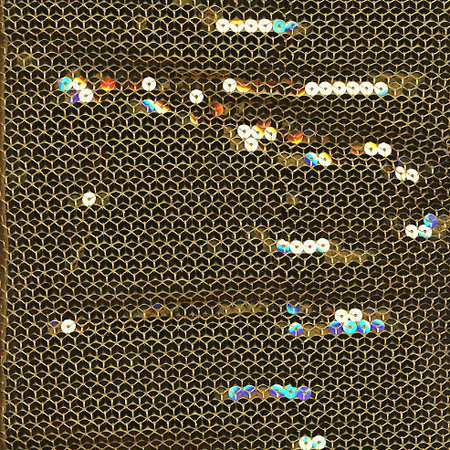 Poly Knit Stretch Sequin GOLD