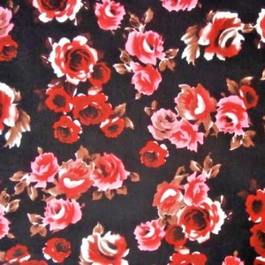 Poly Print RED ROSE