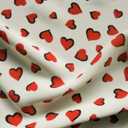 Poly Print RED HEARTS