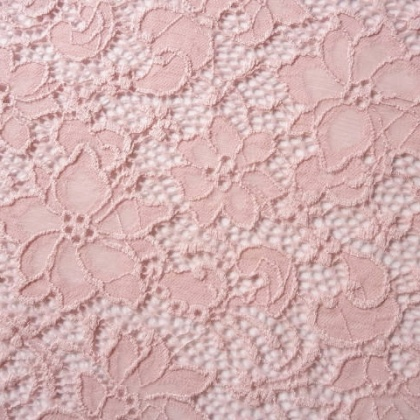 Stretch Ornate Flower Lace PINK