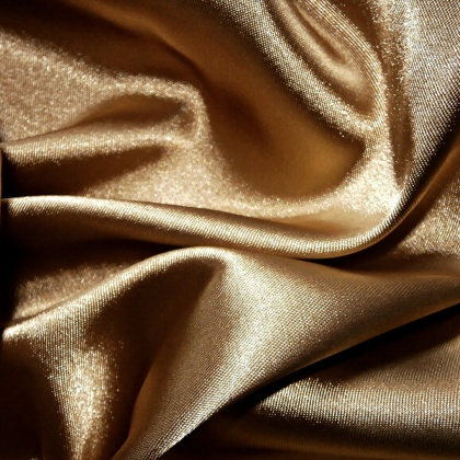 Stretch Satin OLD GOLD