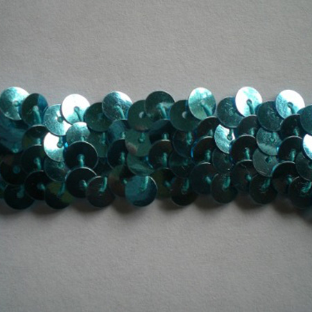 Stretch Sequin Trim Plain TURQUOISE