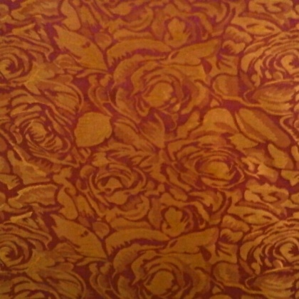 Very Lightweight Floral Jacquard GOLD WINE