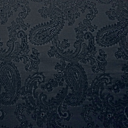 Very Lightweight Paisley Jacquard BLACK