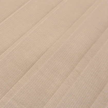 Wide Pleat Tulle IVORY