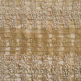 Bamboo Effect Stretch Sequin Lace  NATURAL